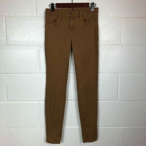 J Brand Super skinny jeans brown ginger 28